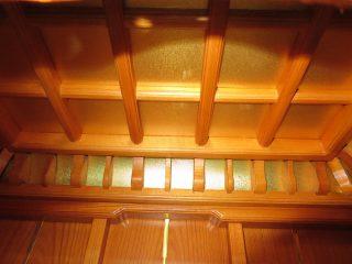 竹・菊・梅・菖蒲の庭 寺院で静かに祈る ともしび(灯ーMO 上置き仏壇) 本欅 唐木仏壇
