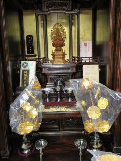 ~柿くへば 鐘が鳴るなり 法隆寺~シャム柿を贅沢に使った「夢殿」枝垂れ桜を一面に。最高級仏具付き