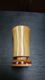 ナラと花梨の仏具 線香差し ミニ7.5㎝ 温かみのある天然木の仏具